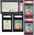 Baseball Cards:Lots, 1933 Goudey Jim Bottomley #44 Printer's Proofs and Library ofCongress Copyright Patent Card Group (5). ...