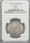 1807 50C Large Stars, 50/20 XF45 NGC. NGC Census: (37/109). PCGS Population: (47/164). CDN: $1,220 Whsle. Bid for NGC/PC...