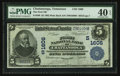 National Bank Notes:Tennessee, Chattanooga, TN - $5 1902 Plain Back Fr. 599 The First NB Ch. #(S)1606. ...