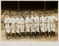 Baseball Collectibles:Photos, 1927 New York Yankees Pitchers Signed Original Photograph....