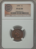 Proof Indian Cents: , 1899 1C PR66 Red and Brown NGC. Ex: Eric P. Newman Collection. NGC Census: (20/3). PCGS Population (39/7). Mintage: 2,031. ...