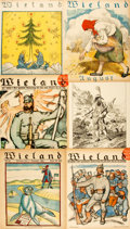 Books:Prints & Leaves, [Illustrated Periodicals]. Group of Twenty-Two Illustrated Coversand Leaves from German Magazine Wieland. Circa...