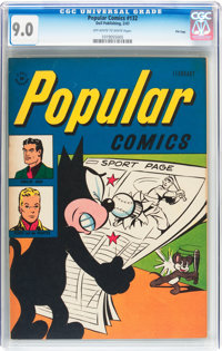Popular Comics #132 File Copy (Dell, 1947) CGC VF/NM 9.0 Off-white to white pages