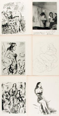 Books:Prints & Leaves, Louis Touchages, French artist (1893-1974). Group of Twenty-FourIllustrated Plates. Disbound. Taken from: Robert Rey. La ...