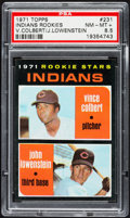 Baseball Cards:Singles (1970-Now), 1971 Topps Indians Rookies #231 PSA NM-MT+ 8.5....