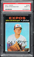 Baseball Cards:Singles (1970-Now), 1971 Topps John Strohmayer #232 PSA Mint 9....