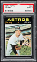 Baseball Cards:Singles (1970-Now), 1971 Topps Jim Ray #242 PSA Mint 9....