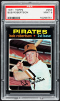 Baseball Cards:Singles (1970-Now), 1971 Topps Bob Robertson #255 PSA Mint 9....