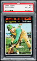 Baseball Cards:Singles (1970-Now), 1971 Topps Dick Green #258 PSA NM-MT 8....