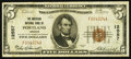 National Bank Notes:Oregon, Portland, OR - $5 1929 Ty. 1 The American NB Ch. # 12557. ...