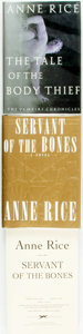 Books:Horror & Supernatural, [Anne Rice]. Trio of First Editions. Titles include: The Tale of the Body Thief [together with:] The First Edition and U... (Total: 3 Items)