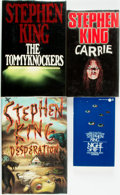 Books:Horror & Supernatural, [Stephen King]. Group of Four First Editions. Includes: Carrie. New English Library, [1974]. First UK Edition. [with... (Total: 4 Items)