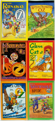 [Children's Books]. Group of Six SIGNED Later OZ Books, Five of Which are LIMITED EDITIONS. [Various publishers], 199