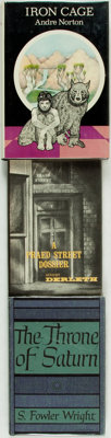 [Genre Literature]. Trio of First Editions. Titles include: August Derleth. A Praed Street Dossier.<