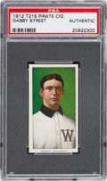 Baseball Cards:Singles (Pre-1930), 1912 T215 Pirate Cigarettes Gabby Street PSA Authentic. ...