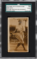 "Baseball Cards:Singles (Pre-1930), 1920 Babe Ruth ""Headin' Home"" Theatre Cards - Follow Through BelowWaist SGC 10 Poor 1. ..."