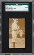 """Baseball Cards:Singles (Pre-1930), 1920 Babe Ruth """"Headin' Home"""" Theatre Cards - Bat On Shoulder,Full-Length SGC Authentic. ..."""
