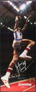 Basketball Collectibles:Others, 1979 Julius Dr. J Erving Original Converse Poster - Near LifeSized....