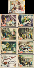"Movie Posters:Adventure, Arabian Nights (Universal, 1942/Film Classics, R-1950). Lobby CardSet of 8 & Lobby Card (11"" X 14""). Adventure.. ... (Total: 9Items)"