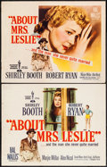 """Movie Posters:Romance, About Mrs. Leslie (Paramount, 1954). Half Sheets (2) (22"""" X 28"""") Styles A & B. Romance.. ... (Total: 2 Items)"""