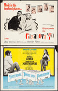 """Movie Posters:Foreign, Casanova '70 & Other Lot (Embassy, 1965). Half Sheets (2) (22"""" X 28""""). Foreign.. ... (Total: 2 Items)"""