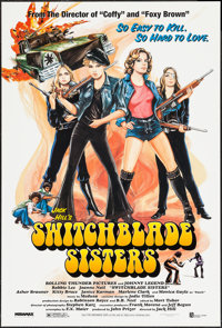 """Switchblade Sisters & Other Lot (Miramax, R-1996). One Sheets (2) (27"""" X 40"""") SS. Exploitation. ... (Total..."""