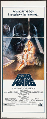 "Star Wars (20th Century Fox, 1977). Insert (14"" X 36""). Science Fiction"