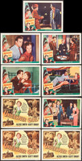 """Movie Posters:Crime, Undercover Girl (Universal International, 1950). Title Lobby Cards(3) & Lobby Cards (6) (11"""" X 14""""). Crime.. ... (Total: 9 Items)"""
