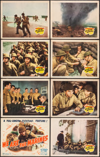"We Are the Marines (20th Century Fox, 1942). Lobby Card Set of 8 (11"" X 14""). War. ... (Total: 8 Items)"
