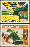 """Movie Posters:Science Fiction, King Kong vs. Godzilla & Other Lot (Universal, 1963). LobbyCards (2) (11"""" X 14""""). Science Fiction.. ... (Total: 2 Items)"""