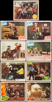 """Law and Order & Others Lot (Universal, 1940). Lobby Cards (9) (11"""" X 14""""). Western. ... (Total: 9 Items)"""