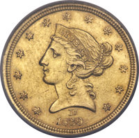 1839-D $5 -- Improperly Cleaned -- NCS. AU Details. Variety 1-A....(PCGS# 8193)