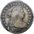 Early Dimes, 1796 10C JR-1, R.3, Fine 15 PCGS. CAC....