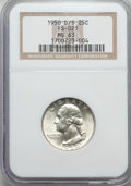 Washington Quarters, 1950-D/S 25C FS-601 MS63 NGC....