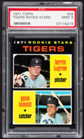 Baseball Cards:Singles (1970-Now), 1971 Topps Tigers Rookies #39 PSA Mint 9....