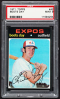 Baseball Cards:Singles (1970-Now), 1971 Topps Boots Day #42 PSA Mint 9....