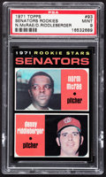 Baseball Cards:Singles (1970-Now), 1971 Topps Senators Rookies #93 PSA Mint 9....