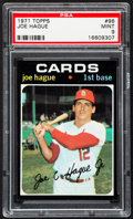 Baseball Cards:Singles (1970-Now), 1971 Topps Joe Hague #96 PSA Mint 9....