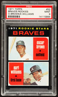 Baseball Cards:Singles (1970-Now), 1971 Topps Braves Rookies #52 PSA Mint 9....