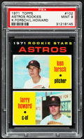 Baseball Cards:Singles (1970-Now), 1971 Topps Astros Rookies #102 PSA Mint 9....