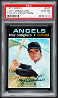 Baseball Cards:Singles (1970-Now), 1971 Topps Tony Conigliaro #105 PSA Gem Mint 10 - Pop Three....