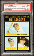Baseball Cards:Singles (1970-Now), 1971 Topps AL RBI Leaders #63 PSA NM-MT+ 8.5....