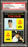Baseball Cards:Singles (1970-Now), 1971 Topps Twins Rookies #74 PSA Mint 9....
