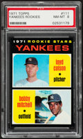 Baseball Cards:Singles (1970-Now), 1971 Topps Yankees Rookies #111 PSA NM-MT 8....