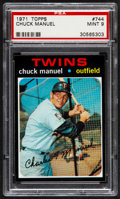 Baseball Cards:Singles (1970-Now), 1971 Topps Chuck Manuel #744 PSA Mint 9....