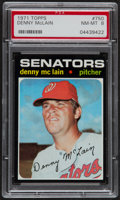 Baseball Cards:Singles (1970-Now), 1971 Topps Denny McLain #750 PSA NM-MT 8....