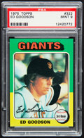 Baseball Cards:Singles (1970-Now), 1975 Topps Ed Goodson #322 PSA Mint 9....