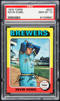 Baseball Cards:Singles (1970-Now), 1975 Topps Kevin Kobel #337 PSA Gem Mint 10 - Pop Three....