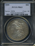 Proof Morgan Dollars: , 1895 $1 PR63 PCGS. Because of the extremely small number of 1895dollars available, limited of course to the 880 proofs st...