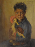 Fine Art - Painting, American:Modern  (1900 1949)  , JOHN HUBBARD RICH (American 1876-1954). Portrait of a MexicanBoy. Oil on canvas laid on artist board. 16 x 12 inches (4...